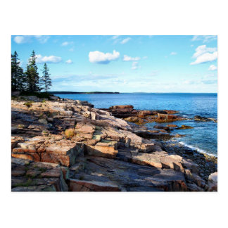 Schoodic Shoreline 1-adj Postcard