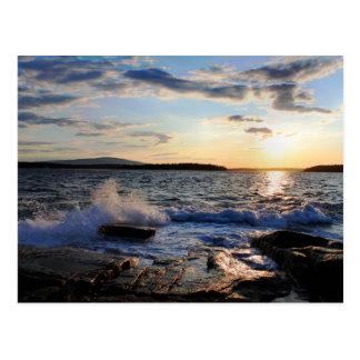 'Schoodic Sunset' Postcard