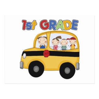 School 1st Grade Bus Postcard