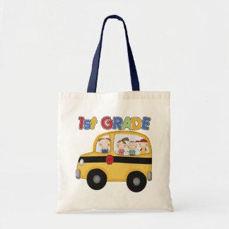 School 1st Grade Bus Tote Bag
