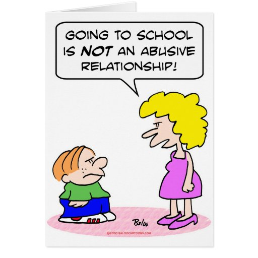 school abusive relationship greeting card