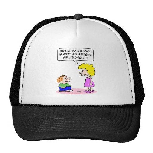 school abusive relationship trucker hat