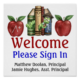 School Administration Sign In Poster - SRF