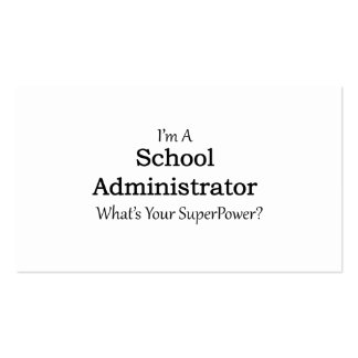 School Administrator Business Card