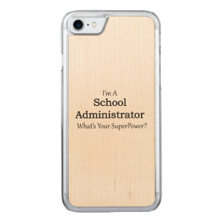 School Administrator Carved iPhone 7 Case