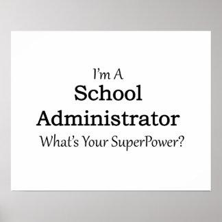 School Administrator Poster