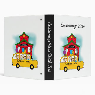 School and School Bus T-shirts and Gifts 3 Ring Binder