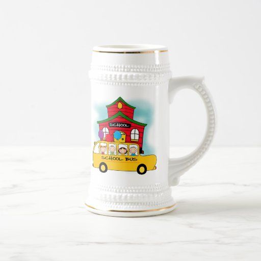 School and School Bus T-shirts and Gifts Coffee Mugs