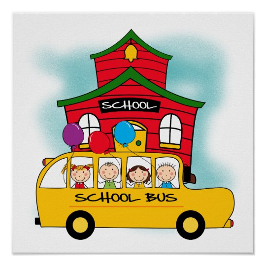 School and School Bus T-shirts and Gifts Poster