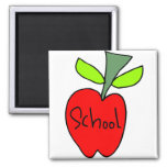 School Apples Fridge Magnets