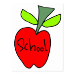 School Apples Post Cards