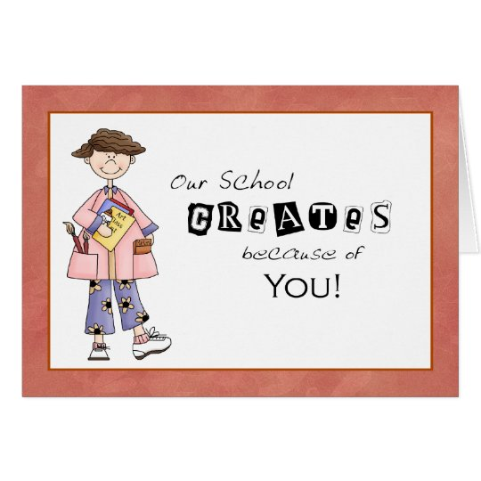 school principal thank you card from student zazzle com