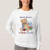 School Bear - 1st Grade Teacher T-Shirt