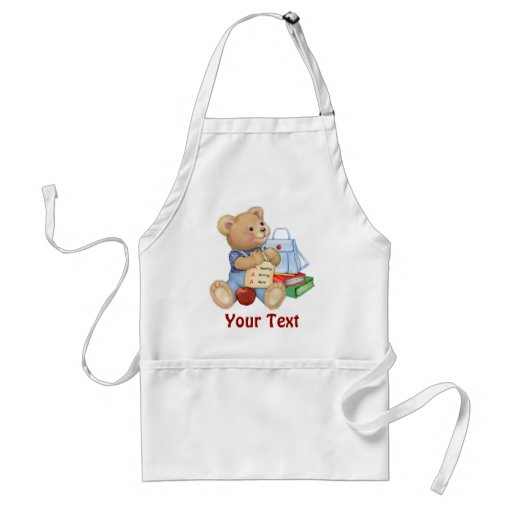 School Bear - First Grade Apron