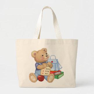 School Bear Large Tote Bag