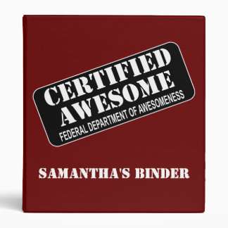 School Binder - Certified Awesome
