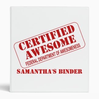School Binder - Certified Awesome 1