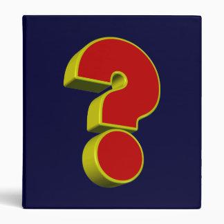 School Binder - Question Mark
