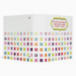 School binders, colorful polka dots