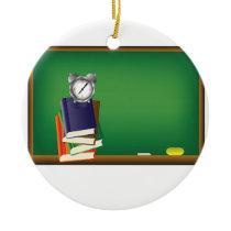 school board ceramic ornament