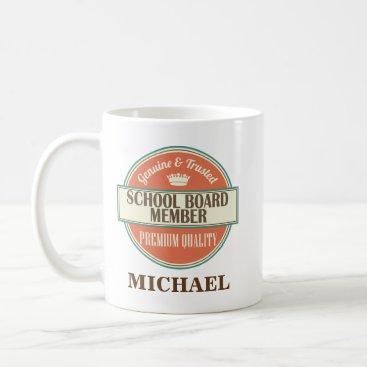 Beach Themed School Board Member Personalized Office Mug Gift