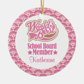 School Board Member Personalized Ornament