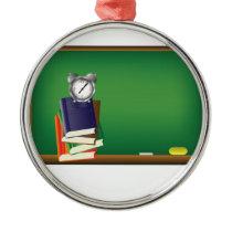 school board metal ornament
