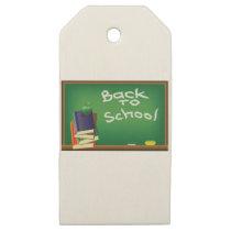 school board wooden gift tags