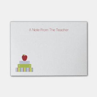School Book Stack Teacher s Note Pad Post-it® Notes