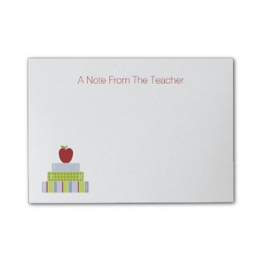Christmas Themed School Book Stack Teacher's Note Pad