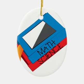 School Books Ceramic Ornament