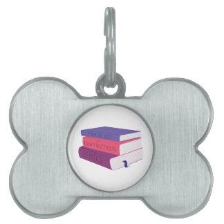 School Books Pet ID Tags