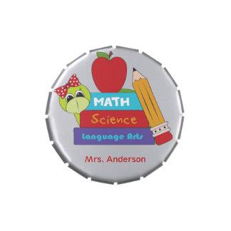 School Books Teacher Candy Tin