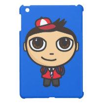 School Boy Cartoon Character iPad Mini Case
