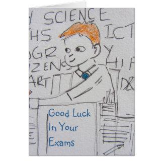 School Boy Good Luck Card