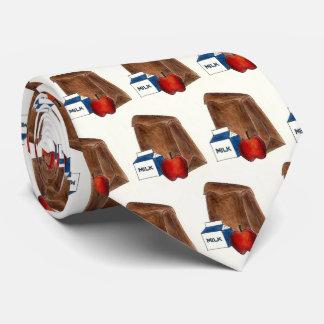 School Brown Bag Lunch Milk Carton Apple Teacher Neck Tie