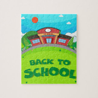 School building and the park jigsaw puzzle