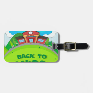 School building and the park luggage tag