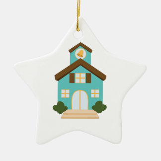 School Building Ceramic Star Ornament