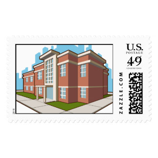 School Building Postage