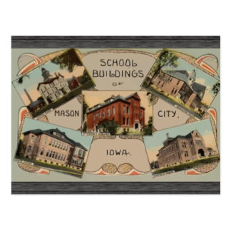 School Buildings Of Mason City Iowa, Vintage Postcard