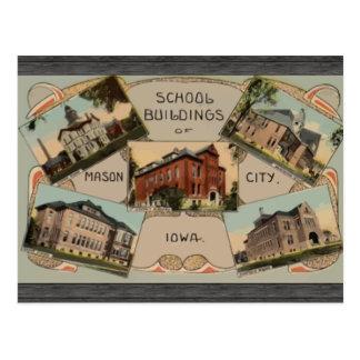 School Buildings Of Mason City Iowa, Vintage Postcard
