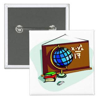 School Bulletin Board Pinback Button