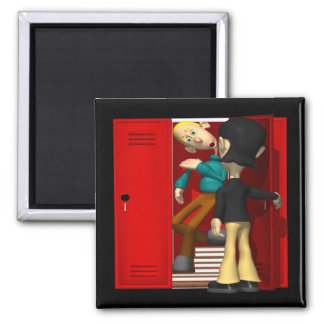 School Bully 2 Inch Square Magnet