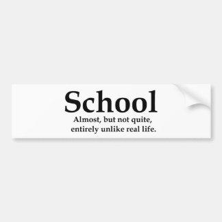 School Bumper Sticker