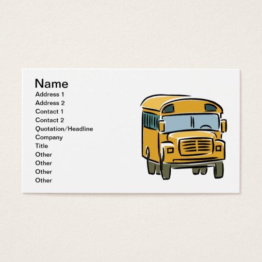 school bus 2 business card. Black Bedroom Furniture Sets. Home Design Ideas
