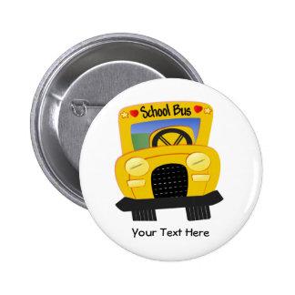 School Bus 2 (Customizable) 2 Inch Round Button