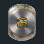 "School Bus 2 Glass Candy Jar<br><div class=""desc"">Do you School? Then share these Smart Designs on your favorite products with your friends,  family and the world!</div>"