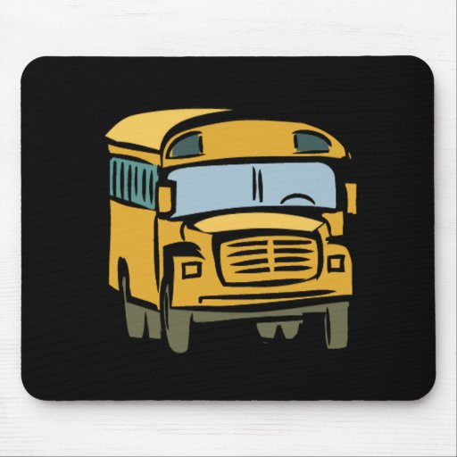 School Bus 2 Mouse Pad