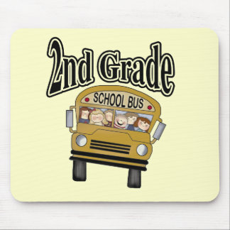 School Bus 2nd Grade Tshirts and Gifts Mouse Pad